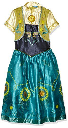 Anna -disney Frozen Fever - Childrens Fancy Dress Costume - Medium - 116cm - Age 5-6