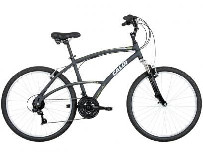 Bicicleta Caloi 400 Aro 26 21 Marchas - Suspensão Aluminio Câmbio Shimano TZ Freio V-brake com as melhores condições você encontra no Magazine Jbtekinformatica. Confira!
