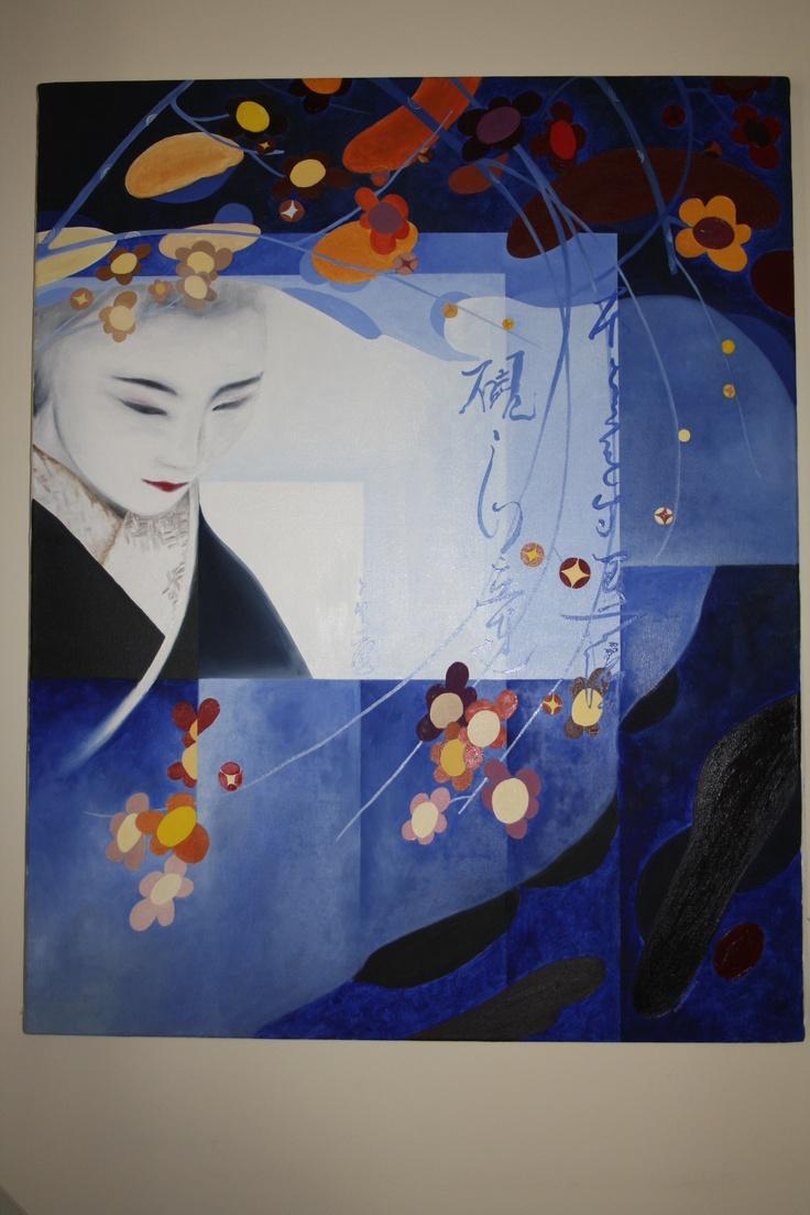 Geisha painting  oil painting   73x92 cm  1450 €