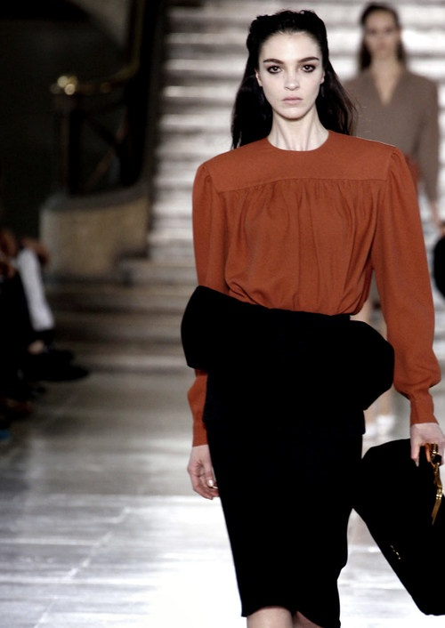Mariacarla Boscono at Miu Miu F/W 2011.