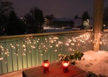 Como Decorar Balcones de Departamentos para Navidad