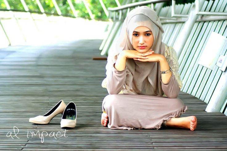 Hijab model photoshoot
