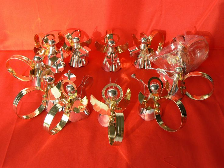 11 Vintage Silver Plated Angel Napkin Rings by Timeless Treasures | eBay