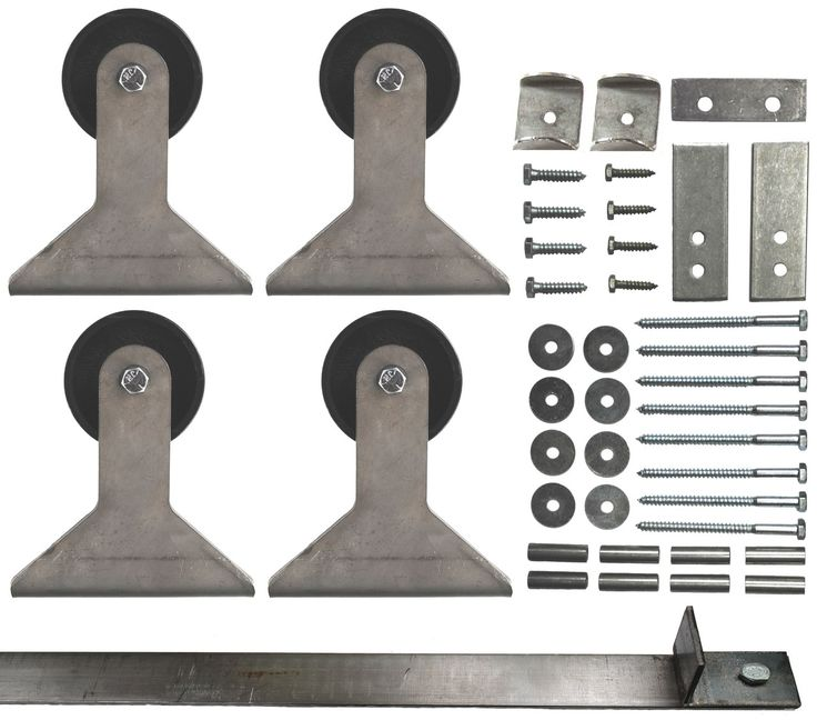 double sliding barn door hardware kit top mount hanger with 14 ft track included