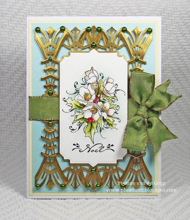 Christmas Rose card  - Yvonne Van Der Valk - Van de Grijp - Stempelglede :: Design Team Blog - Stempelglede :: Design Team Blog
