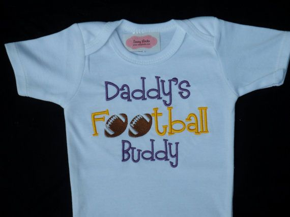 Baby Boy Clothes Football Sports Outfit Daddy's by LilMamas, $16.90