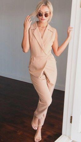 Nude is divine!  autum casual overalls New Arrivals | ChicDiva
