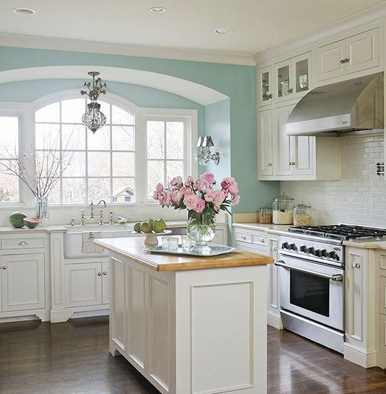 22 Small Kitchens With White Cabinets Ideas Tiffany Blue Kitchen Ideas For Decor And