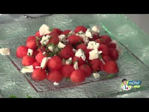 Healthy Watermelon and Feta Cheese Salad Recipe - Hindi - YouTube