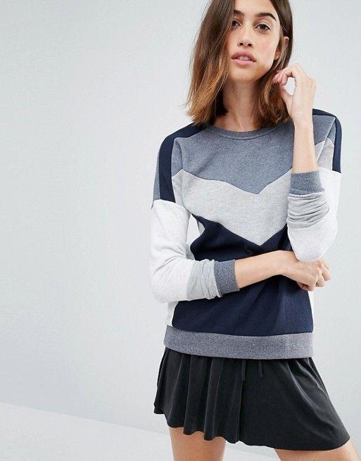 Vero Moda | Свитшот в стиле колор блок Vero Moda