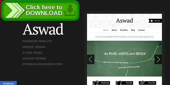 [ThemeForest]Free nulled download Aswad | Facebook Template from http://zippyfile.download/f.php?id=2518 Tags: black, elegant, facebook layout, facebook template