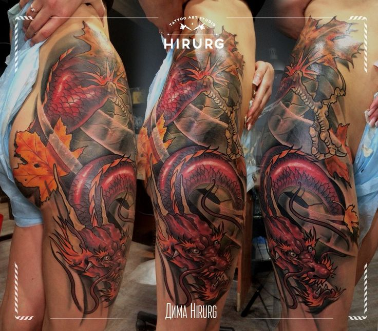 tattoo dragon girl