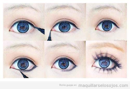 Guri ageha takako gyaru maquillaje ojos estilo koreano japones j pop paso a paso