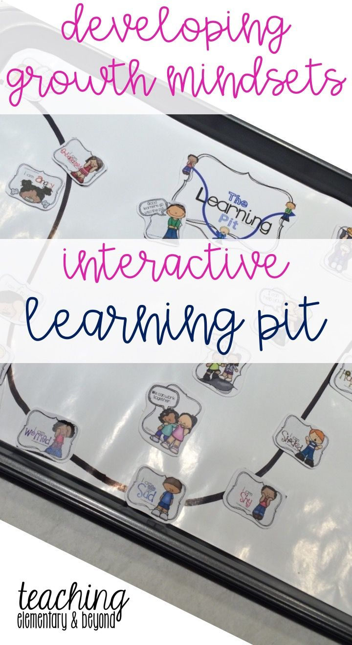 What a great idea! An interactive primary learning pit to help instill growth mindset in young children. A great support for students learning how to self-regulate their emotions and behaviour. This is an excellent behaviour management support tool! Great as an activity, display and even as bulletin board! Very versatile! #growthmindset #learningpit