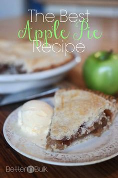 The Best Apple Pie Recipe - from the perfect crust to the delicious, simple apple filling. You will want to make this over and over again!