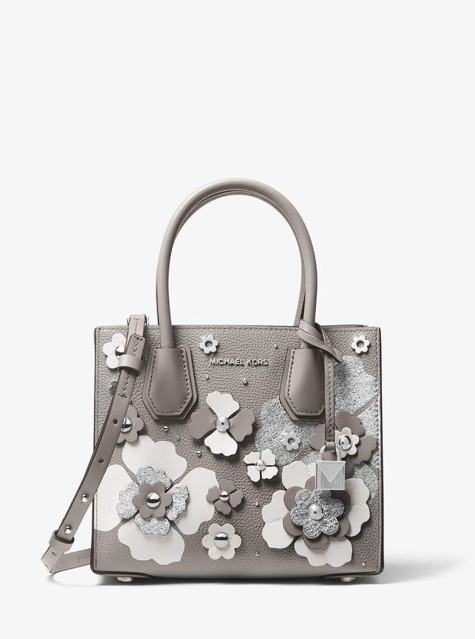 415446c3308b8 MICHAEL Michael Kors Mercer Floral Embellished Leather Crossbody ...