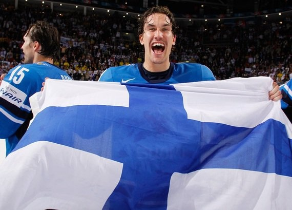 Sami Lepisto, excited Finland just won the World Championships.
