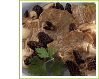 Escalopes de veau à la crème et aux morilles