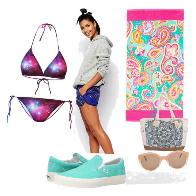 """Sporty/casual day at the beach"" by cjones135 on Polyvore featuring NIKE, Billabong, Chicnova Fashion, Illesteva, Vans, women's clothing, women, female, woman and misses"