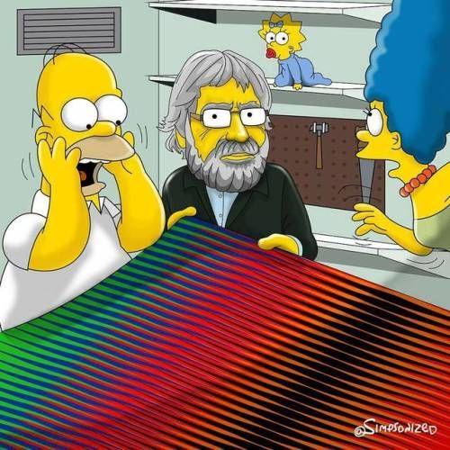 @Regranned from @simpsonized - Y para culminar el día de paseo por Panamá con broche de oro, los Simpson decidieron visitar el taller del maestro venezolano @carloscruzdiez , donde Homero quedó fascinado al ver sus obras y conocer a tan buena...