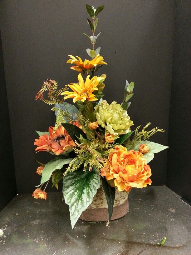 534 best fall or thanksgiving decorations images on for Fall fake flower arrangement ideas