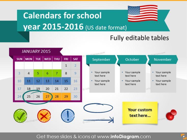 27 best infoDiagram images on Pinterest Presentation, Flat - sample power point calendar