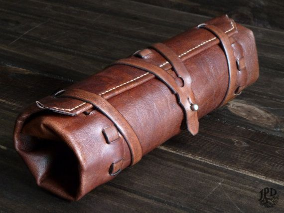 Leather Tool Roll Rugged Tool Bag Custom Woodworker by JPDco