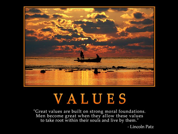 thoughts on moral values Personal values personal values are the standards that define and guide an individual's daily activities as well as their thoughts one's personal values.