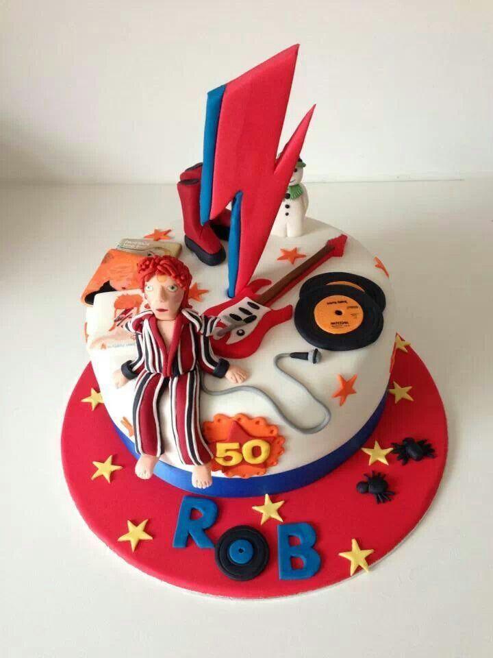 David Bowie Themed Cake Cake Decorating Pinterest