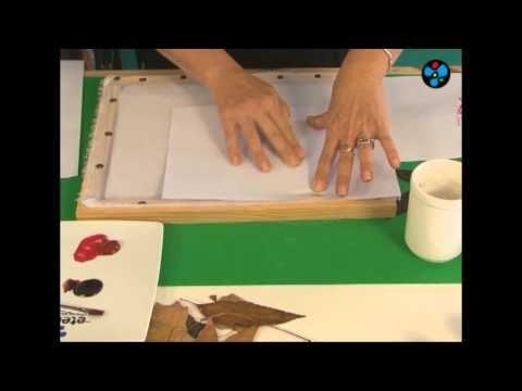 Pintura para Tela sobre camisa de gasa - Silvia Botta en Manos a la Obra - YouTube