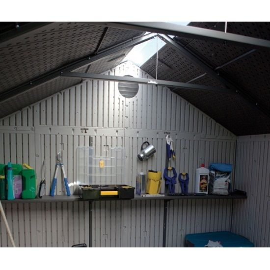lifetime outdoor shed 60056 storage shed 8 x 10 this picture shows the inside - Garden Sheds 8 X 5