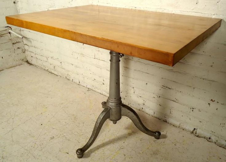 Mid-Century Butcher Block Drafting Table 5