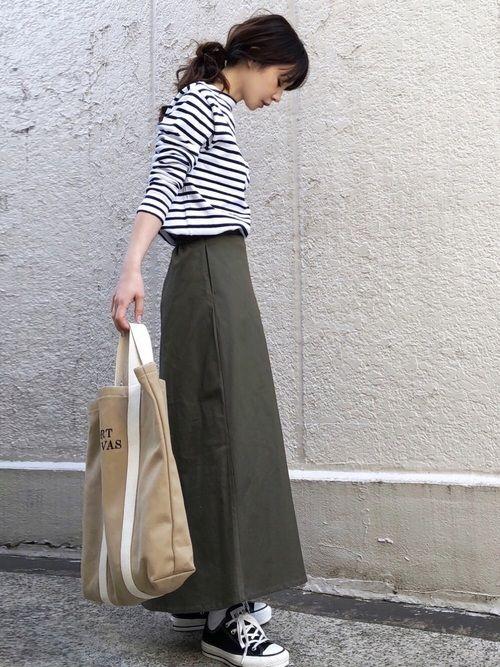 SAINT JAMESのTシャツ・カットソー「<SAINT JAMES>OUESSANT BORDER 18SS/カットソー」を使ったari☆のコーディネートです。WEARはモデル・俳優・ショップスタッフなどの着こなしをチェックできるファッションコーディネートサイトです。