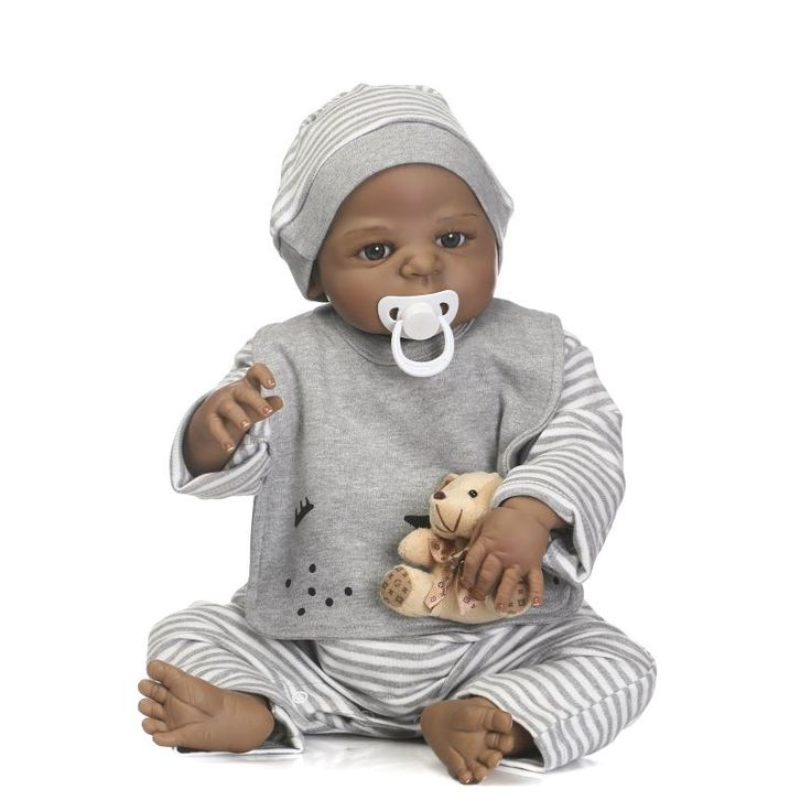22 Inch 57cm Handmade Lifelike Newborn Full Body Silicone Vinyl Reborn Newborn Baby Dolls  A014 #Affiliate