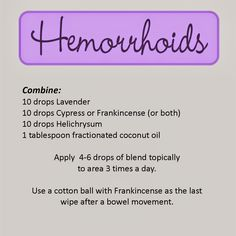 Essential Oils During Pregnancy... Hemorrhoid Relief Struggling with this awful disorder is certainly got to be unpleasant. Have you ever wish to end your nightmare?