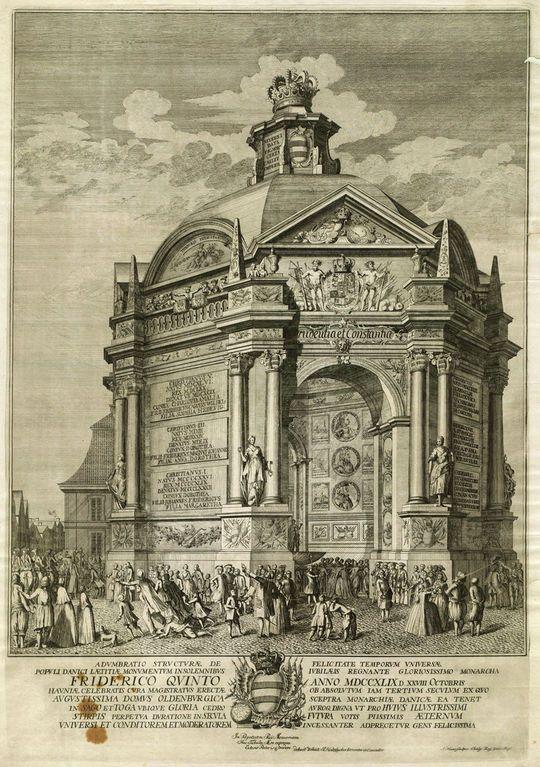 Ærestempel på Gammeltorv 1749