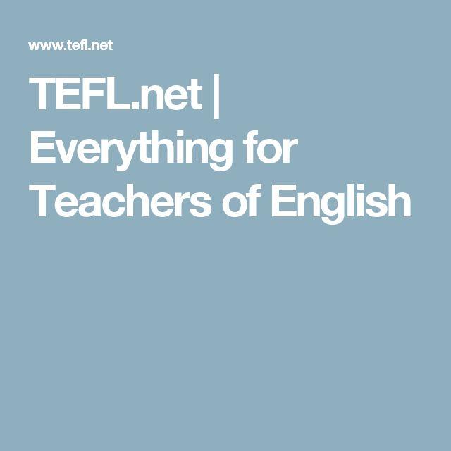 TEFL.net | Everything for Teachers of English