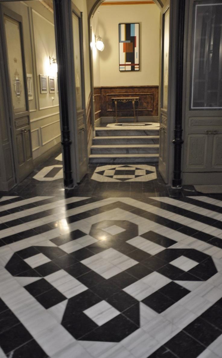Entrance hall, Villa Jardines, Madrid, Spain.