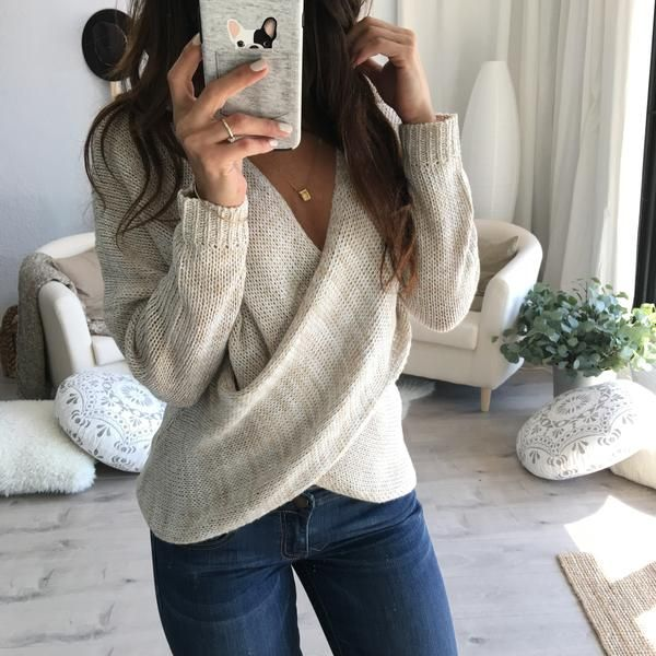 Ainsley Drape Knit Sweater
