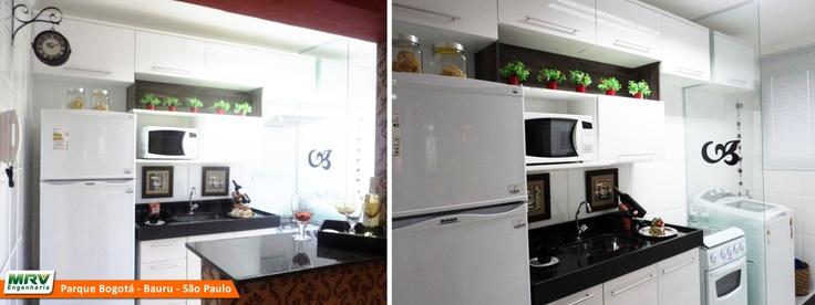 Apartamento decorado 2 dormitórios do Parque Bogotá no bairro Parque Bauru - Bauru - SP - MRV Engenharia - Cozinha