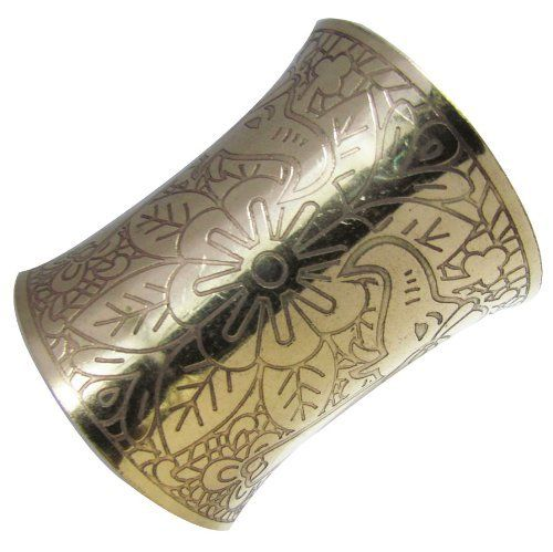 """Iba New Gold Tone Brass Cuff Elephant Adjustable Bracelet IBA. $16.99. Sale For - One Cuff; Material - Brass Metal. Gold Tone Cuff. Size - 3"""" Inches Long ; Diameter - Approx 2.7"""" (Adjustable but can be adjust to certain extent)"""