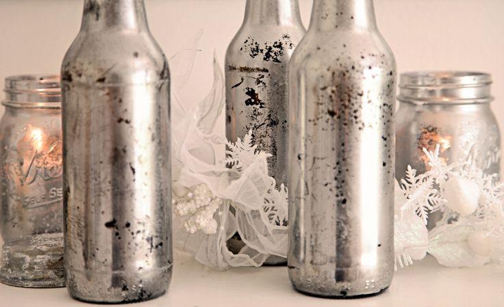 and ANOTHER mercury glass method. Shabbyfufu: Mercury Glass Mason Jar For Candles...Tutorial