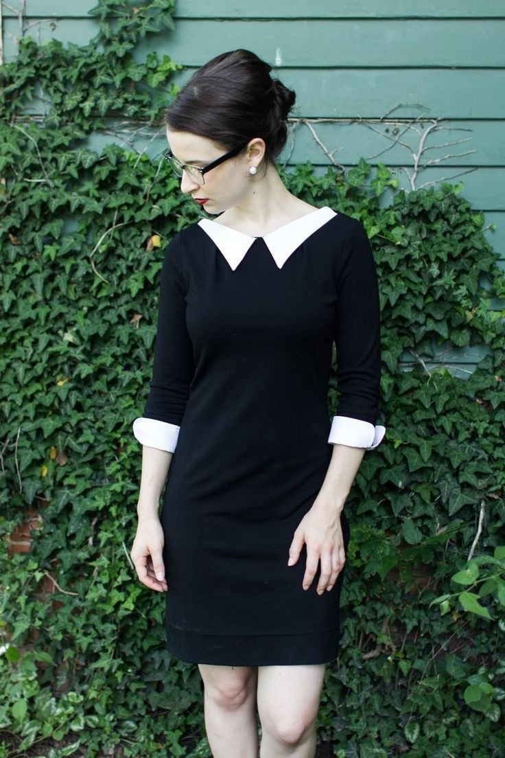 Diy Black And White Lapelled Dress  •  Free tutorial with pictures on how to make a dress in under 45 minutes