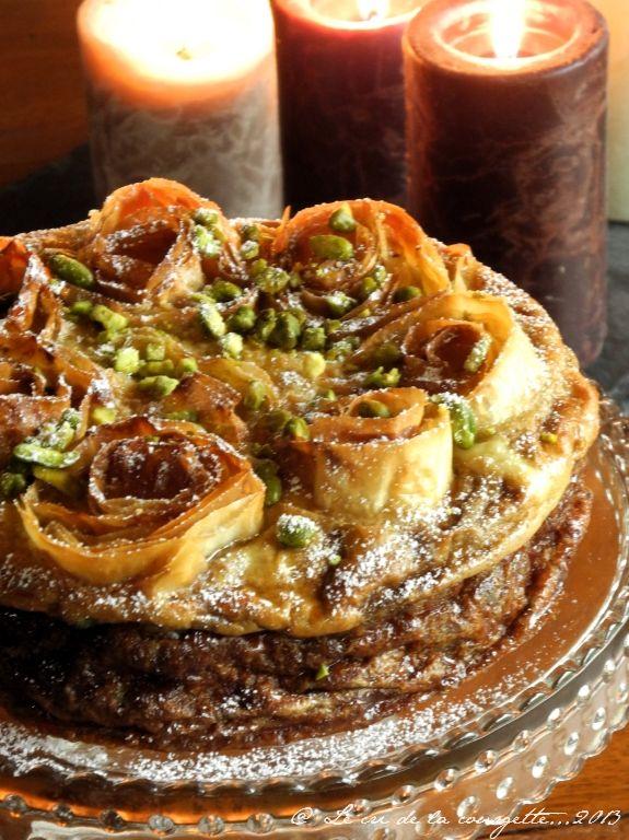 Gâteau Grec aux Crème d'Amande et aux Pistaches