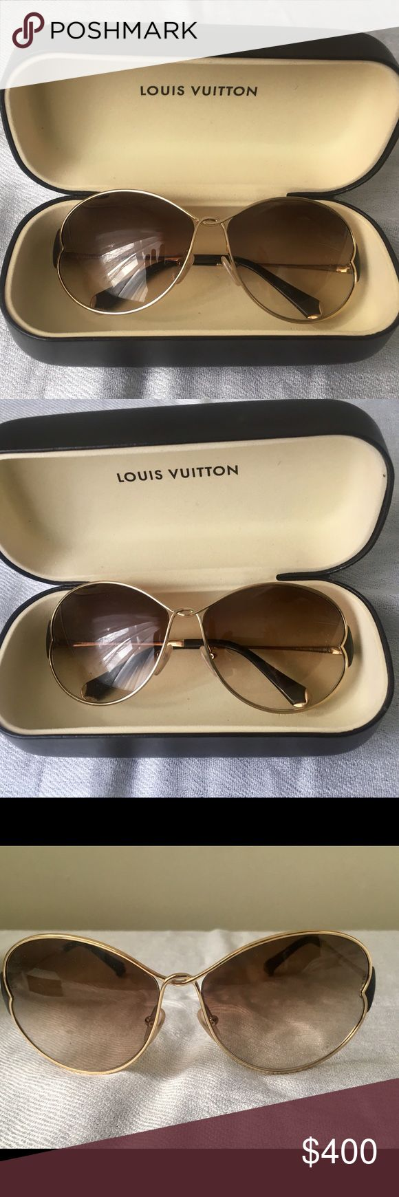 Louis Vuitton Daisy Sunglasses Louis Vuitton Daisy Sunglasses. Handmade in Italy. Serial # J0142   These are authentic and I do have the paperwork somewhere; however, I don't know where that somewhere is right now.   I've only worn these one time (and it was very brief), because I was afraid I'd scratch them and they've been in their case ever since. There are no scratches that I can see. Louis Vuitton Accessories Sunglasses