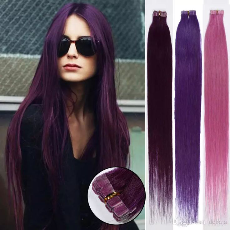 22 best color hair images on pinterest straight hair html and purple tape in remy human hair 30g100 brazilian silky straight skin weft human hair extensions pmusecretfo Image collections