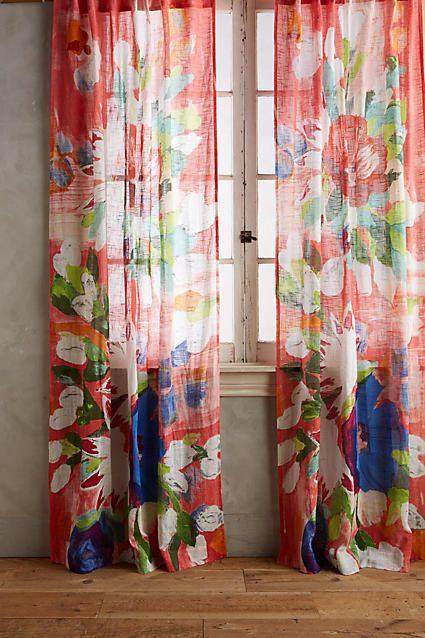 Anthropologie Magnolia Curtain