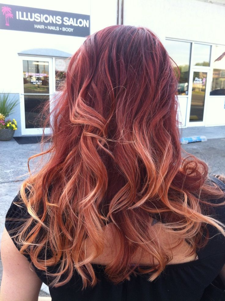 Dark Red Ombre Hair - Red Ombre Hair