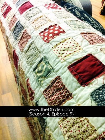 How to make an easy quilt in one night.