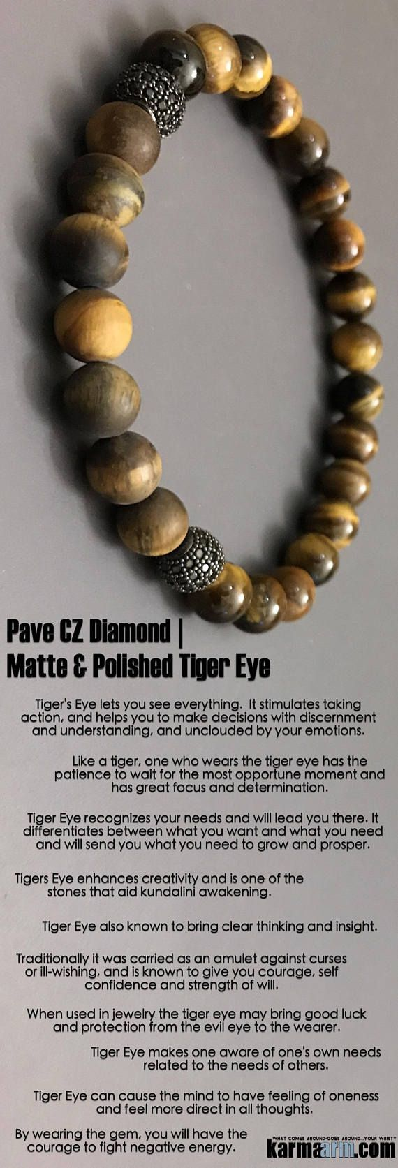 When used in jewelry #tigers eye may bring good luck and protection from the #evil #eye to the wearer. ♛ #BEADED #Yoga #BRACELETS #Mens #Good #Luck #womens #Jewelry #Fertility #Eckhart #Tolle #CrystalsEnergy #gifts #Chakra #reiki #Healing #Kundalini #Law #Attraction #LOA #Love #Mantra #Mala #Meditation #prayer #mindfulness #wisdom #CrystalEnergy #Spiritual #Gifts #ValentinesDay #Valentine #Valentines #Mommy #Blog #Tony #Robbins #friendship #Stacks #Lucky